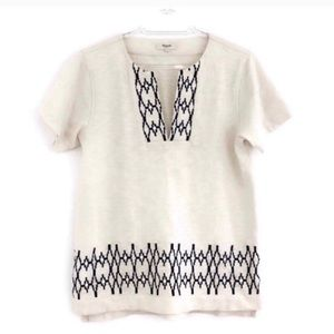 Madewell Embroidered Short Sleeve T Shirt S